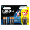 Bateria DURACELL Turbo AA LR6 op.4 + 2 free