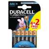 Bateria DURACELL Turbo AAA LR3 op.4 + 2 free